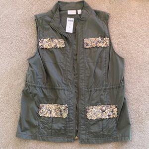 Chico's sequin utility vest
